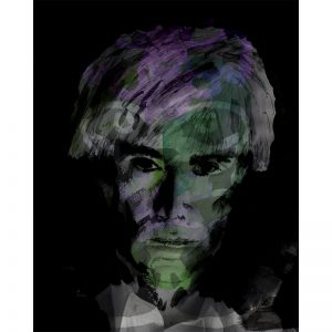 Mixed media print - portret Warhol