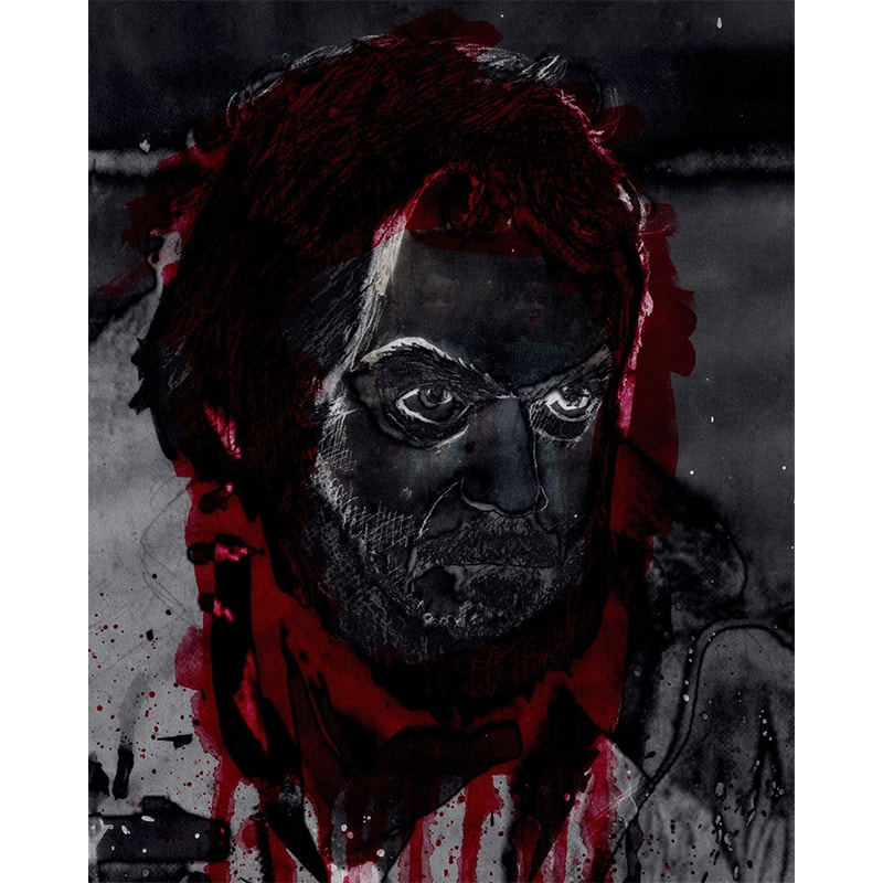 Mixed media print - portret Stanley Kubrick