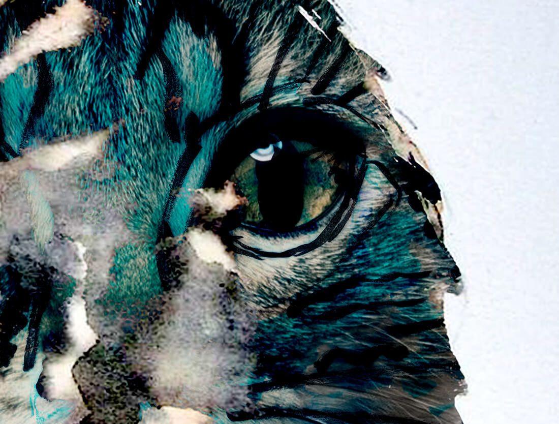 Par les yeux d'un chat - schilderij detail