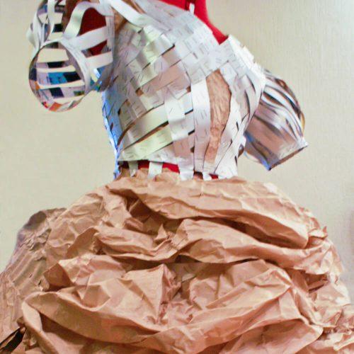 3D kunstobject - Edwardian Dress