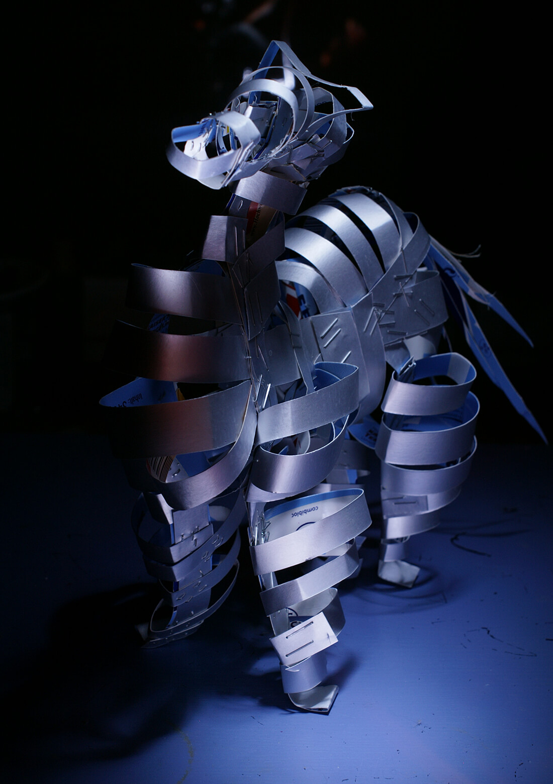 3d Kunstobject - Horse of Troy belicht met zaklamp