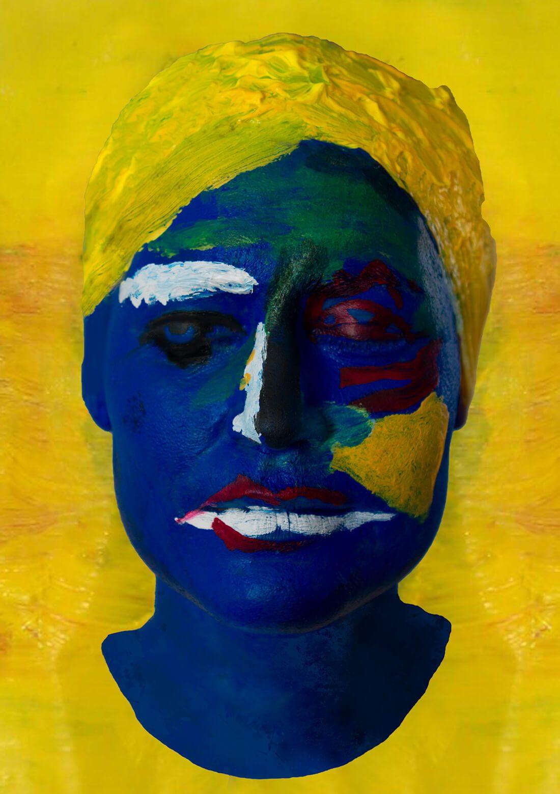 Faces - feeling blue living art