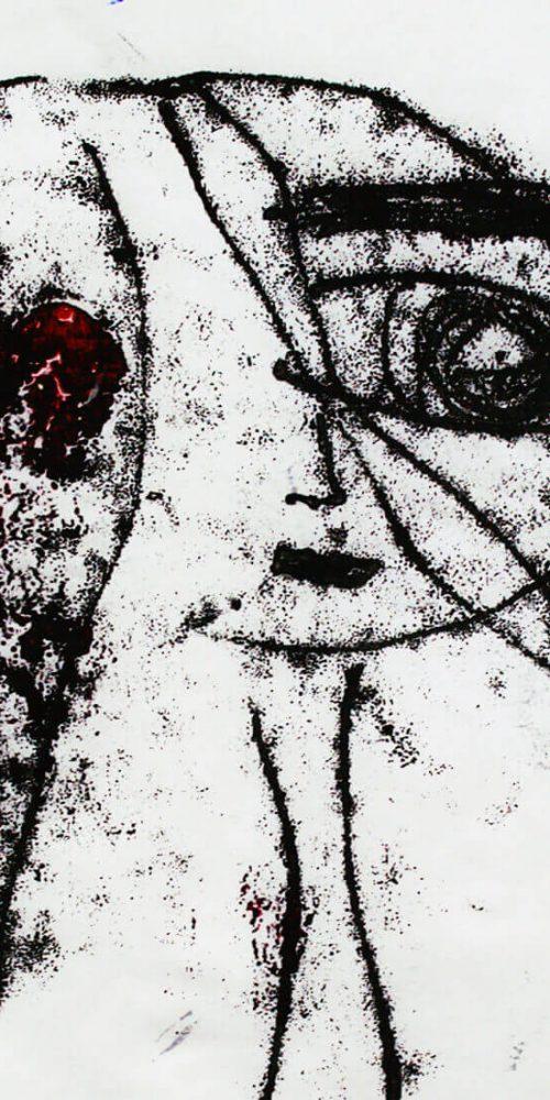 Monotype Art Girl
