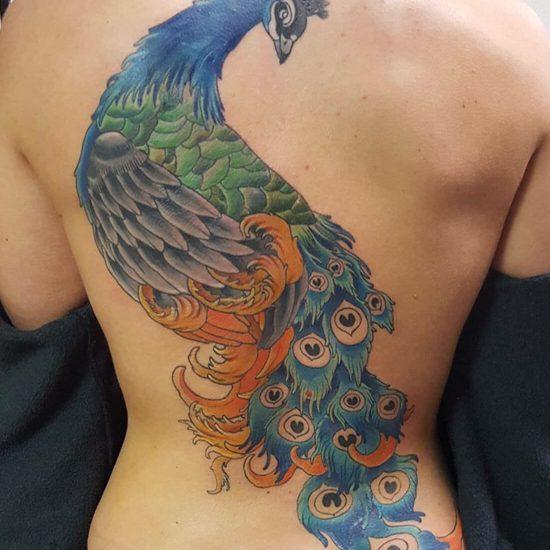 Tattoo ontwerp pauw inked