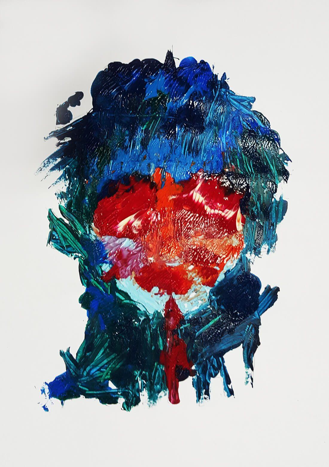 Abstracte weergave van Beethoven