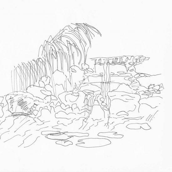 Extra waterval voor tekening