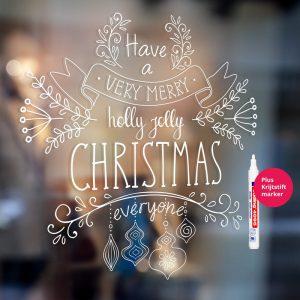 christmas-krijtstift-raamtekening-merry-xmas-stift-edding