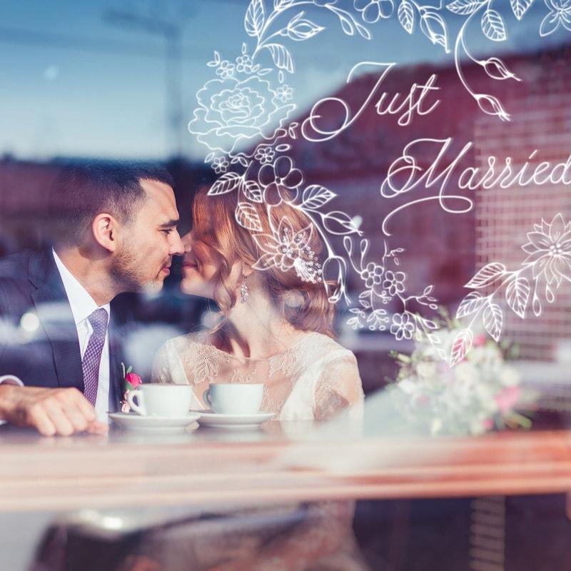 Just Married decoratie - illustratie