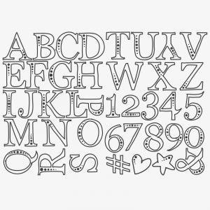 Letters hema vlaggenlijn alfabet krijtstift