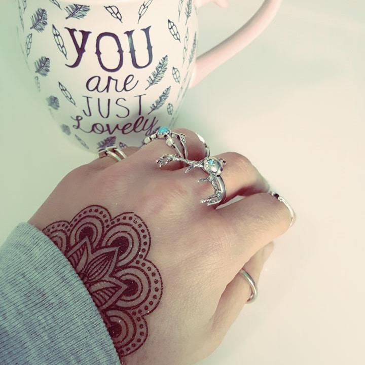 Hand tattoo ontwerp