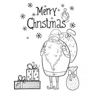 Raamtekening kerstman als raamdecoratie voor de kerst