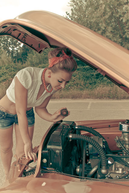 Pin-up foto reportage olie